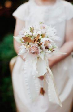 featured in Today's Bride  wedding, flower girl bouquet