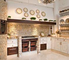 pared cocina rustica