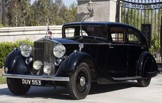 1937 Sports Limousine by H.J. Mulliner (chassis 3AX79, design by DeHavilland Aircraft)