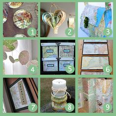 9 Cool Map Crafts and Projects | Home and Garden | CraftGossip.com