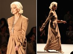 'Life exists beyond 50' - TODAY.com Getty Images~~~This senior citizen isn't slowing down: Model Carmen Dell'Orefice (81years young) walks the runway at the Norisol Ferrari Spring 2013 fashion show during Mercedes-Benz Fashion Week.