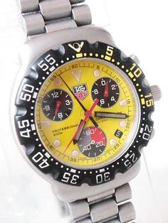 AUTHENTIC TAG Heuer Formula 1  1/10th Second SS Chronograph 200M DIVER Watch #TagHeuer #Dress