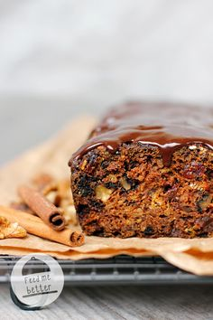 Dietary pumpkin bread with walnuts. Healthy Desserts, Healthy Recipes, Healthy Food, Blueberry Banana Bread, Brownie Bar, Pumpkin Bread, Let Them Eat Cake, Sweet Recipes, Clean Eating