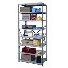 "Hallowell Hi-Tech Shelving Duty Open Type 7 Shelf Shelving Unit Starter Size: 87"" H x 36"" W x 12"" D"