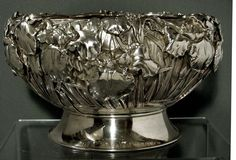 A Japanese Sterling Silver Punch Bowl, 1850-1899.