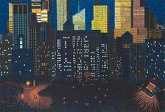 Late Sun Above Madison Sq. Park, by Yvonne Jacquette, 2012.