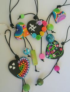Hand bag charms  and keychains by klio1961, via Flickr.....cuori