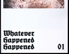 "Check out new work on my @Behance portfolio: ""Whatever Happened Happened"" http://be.net/gallery/48208177/Whatever-Happened-Happened"