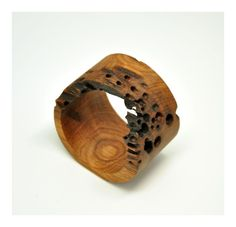 I love this wooden ring! It's from NALJ jewels