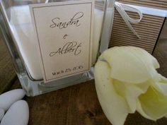 25 Wedding Candle 7oz Personalized Custom di EstherEssenceCandles