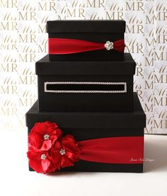 Wedding Card Box Money Box Gift Card Holder  by jamiekimdesigns, $125.00