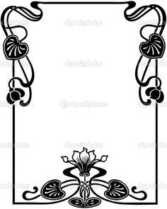 Floral Art Nouveau Frame — Stock Vector © Engin Korkmaz #