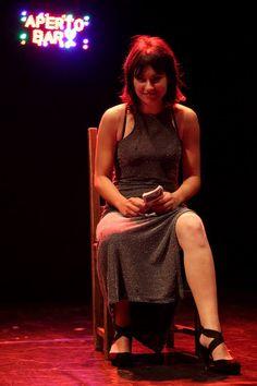 Daria Cozzolino, interprete di Ficcasoldi, l'ultimo spettacolo di Rosario Mastrota. Il tema: gioco e le mafie.