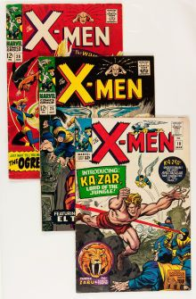 @@@ 13 VINTAGE X-MEN COMICS BEING AUCTIONED NOW! BID NOW...BIDDING ENDS SOON! @@@  Silver Age (1956-1969):Superhero, X-Men Group (Marvel, 1965-67) Condition: Average VG.... (Total: 13Comic Books)