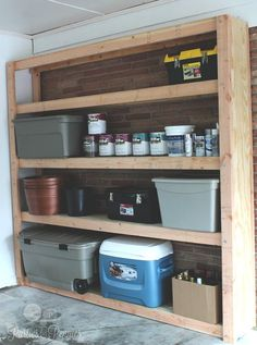 Dave (Mike's dad) sent some plans for a garage shelving unit (a MACDaddy shelving unit) and a workshop table/bench. Description from partiesforpennies.com. I searched for this on bing.com/images