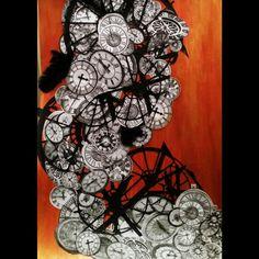 Time Twist - Collage - Mixed Media Technique - 2015 @veromartinezcastro