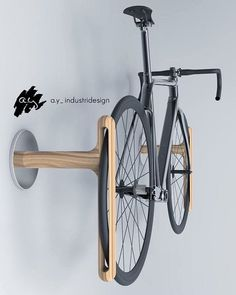 Beautiful bike rack, by industrial designer your woodworking projects to us and we are necessarily going to post them**.👊 Discover How to launch your own woodworking Busi Rack Velo, Bicycle Rack, Garage Velo, Pimp Your Bike, Wall Mount Bike Rack, Bike Mount, Bike Hanger, Bike Shelf, Bois Diy