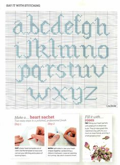 Cross-stitch ABCs lowcase, part 2 ... no color chart available, just use the pattern chart as your color guide.. or choose your own colors... Gallery.ru / Фото #40 - 368 - Yra3raza
