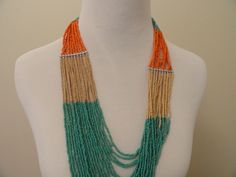 Tropical Beaded Necklace from LaMaLu.com