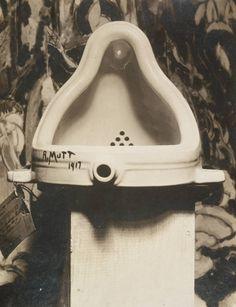 Alfred Stieglitz (American, 1864-1946). Fountain, photograph of sculpture by Marcel Duchamp, 1917.