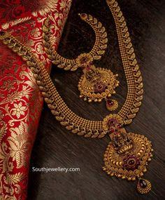 Indian Wedding Jewelry, Wedding Jewelry Sets, Indian Jewelry, Bridal Jewelry, Ear Jewelry, Jewelry Art, Gold Jewelry, Bridal Jewellery Inspiration, Gold Jewellery Design