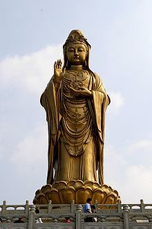 Statue of Guan Yin  (The Iron Goddess of Mercy)  on Mount Putuo Island