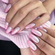 Long Nail Designs, Ombre Nail Designs, Nail Art Designs, Nails Design, Nagel Hacks, Bright Summer Nails, Pink Ombre Nails, Nagellack Design, Gel Nails At Home