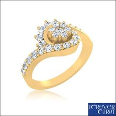 Details about  0.53 Ct Certified Diamond Ring 100% Real 14K Hallmarked Gold Ring Jewellery
