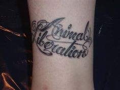 Animal Liberation tattoo