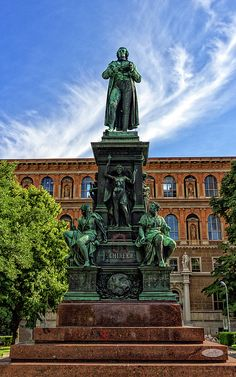 Friedrich Schiller Statue, Vienna, Austria by Elenarts - Elena Duvernay photo Friedrich Schiller, Austria Travel, Famous Places, Statue Of Liberty, Travel Photos, Fine Art America, Prints, Poster, Statue Of Liberty Facts