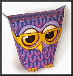 Bespectacled Owl Free Paper Toy Download - http://www.papercraftsquare.com/bespectacled-owl-free-paper-toy-download.html