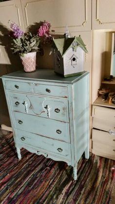 Shabby chic art deco dresser