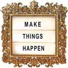 Make things happen. Period. Because the power of everything lies in YOUR hands! . #MakeThingsHappen #Believe #Friday #TGIF #Weekend