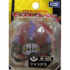 "Pokemon 2012 Chandelure Tomy 2"" Monster Collection Plastic Figure M-005"