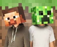 December 12, 2012 - 9 Comments  Convert your boring face into a blocky and pixelated form with these Minecraft masks. These geeky officially licensed one size fits all cardboard Minecraft masks feature Steve and the infamous Creeper as a bundle package, but can also be purchased individually.