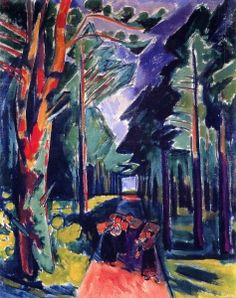 Forest - Hermann Max Pechstein - The Athenaeum