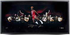 "MICHAEL JORDAN Signed Framed ""City Of Rings"" 30 x 15 Photo LE 123 UDA."
