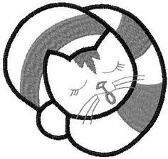 Sleeping grey kitten free embroidery design - Animals free embroidery designs - Machine embroidery community