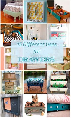 The best DIY projects & DIY ideas and tutorials: sewing, paper craft, DIY. DIY Furniture Plans & Tutorials : 15 Different Uses for Drawers -Read Refurbished Furniture, Repurposed Furniture, Furniture Makeover, Chair Makeover, Furniture Refinishing, Antique Furniture, Metal Furniture, Painted Furniture, Dresser Repurposed
