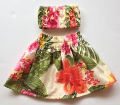 Baby/Toddler Hula Skirt Outfit by jitterbugcollection on Etsy