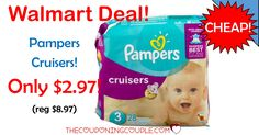 Grab some CHEAP DIAPERS! Snag Pampers Cruisers for only $2.97 (reg $8.97!) at Walmart! HOT PRICE!  Click the link below to get all of the details ► http://www.thecouponingcouple.com/pampers-cruisers/ #Coupons #Couponing #CouponCommunity  Visit us at http://www.thecouponingcouple.com for more great posts!