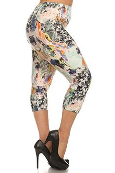 7c3fdf1c3c0b3 Leggings Depot Women's Plus Size High Waisted Best Selling Capri Print  Leggings2 (Aztec Gems) at Amazon Women's Clothing store: