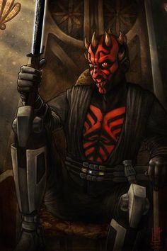 Thanks to my friend Shanna for the suggestion, and for watching Clone Wars with me, and for reminding me I've had a thing for this guy over half my life. Throne of Mandalore Star Wars Rebels, Ahsoka Tano, Darth Maul Clone Wars, Darth Vader, Darth Maul Wallpaper, Jedi Sith, Sith Lord, Art Jokes, Daddy