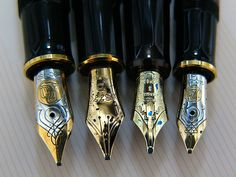 """Fountain Pen Tips. Reminds me of Gary Jules' """"No Poetry"""" """"There's no poetry between us"""" Said the paper to the pen """"And I get nothing for my trouble But the ink beneath my skin"""""""