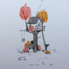 """좋아요 565개, 댓글 11개 - Instagram의 Bethan Woollvin(@bethanwoollvin)님: """"The best present EVER from Finn - an illustration from my favourite illustrator @iamjohnbond  it…"""""""