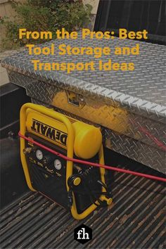 From the Pros: Best Tool Storage and Transport Ideas Construction Tools, Tool Storage, Organization Hacks, Hand Tools, Transportation, Things To Come, Diy, Ideas, Bricolage