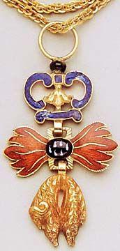 Austria, Golden Fleece Order, neck badge, made c. 1720-1732 for Adam Francis, Prince of Schwarzenberg.