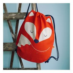 Turnbeutel mit Fuchsmotiv für Kinder / gym bag with fox illustration for kids by Tell-Me via DaWanda.com