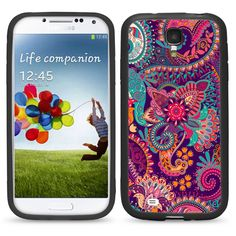 Paisley Flower Print for Samsung Galaxy i9500 S4 Case Cover By Atomic Market -- Awesome products selected by Anna Churchill