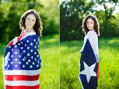 High School Senior Portraits hugging American and Texas state Flag in Dallas by Chantal Brown Photography